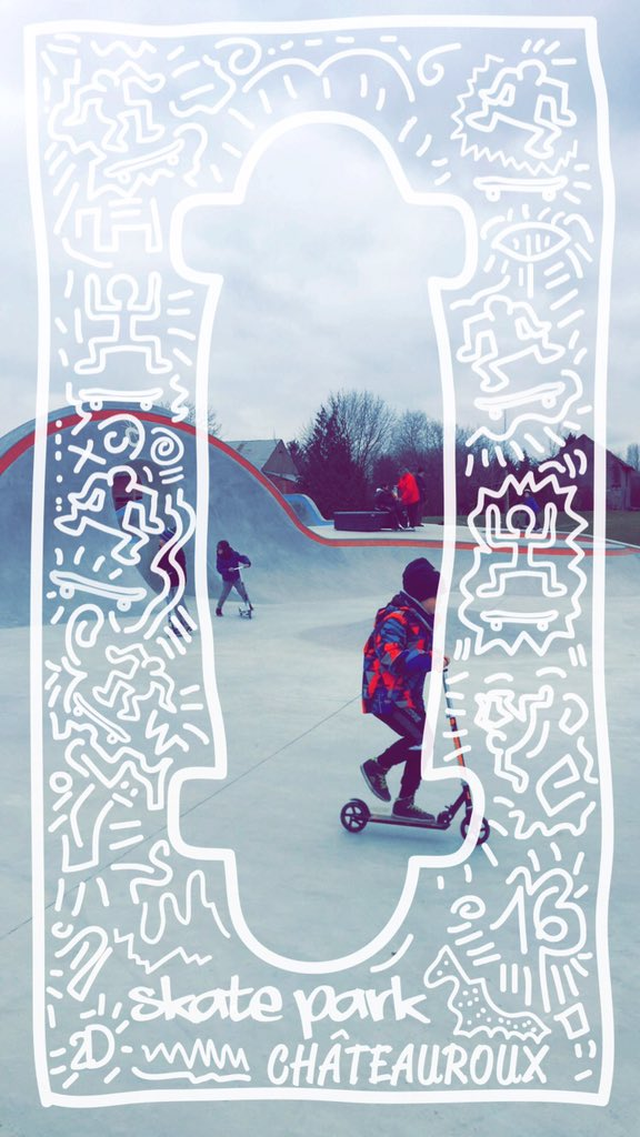 Skate park Châteauroux et son filtre Snapchat
